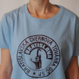 Dámske modré tričko Cvernovka BCT