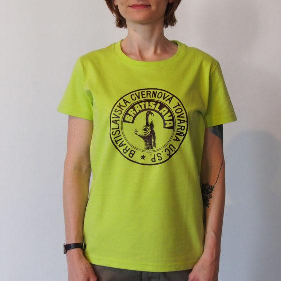 Dámske zelené tričko Cvernovka BCT