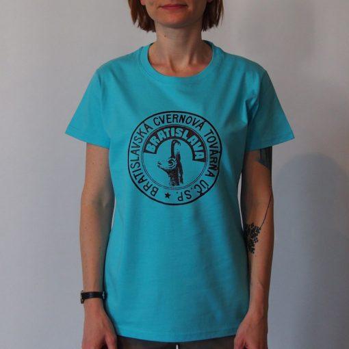 Dámske tyrkysové tričko Cvernovka BCT