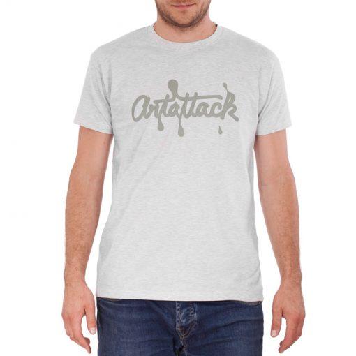 sivé tričko artattack logo