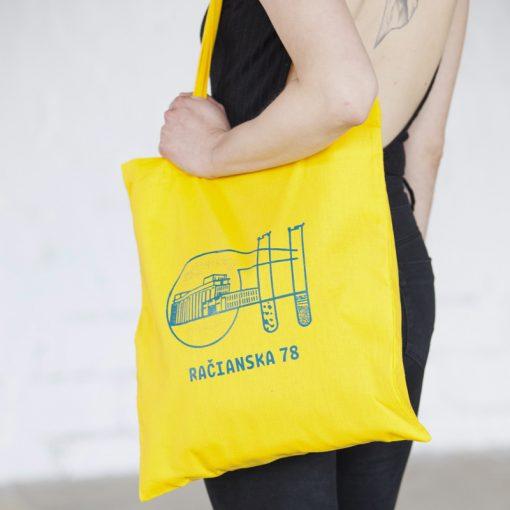 Žltá plátená taška račianska