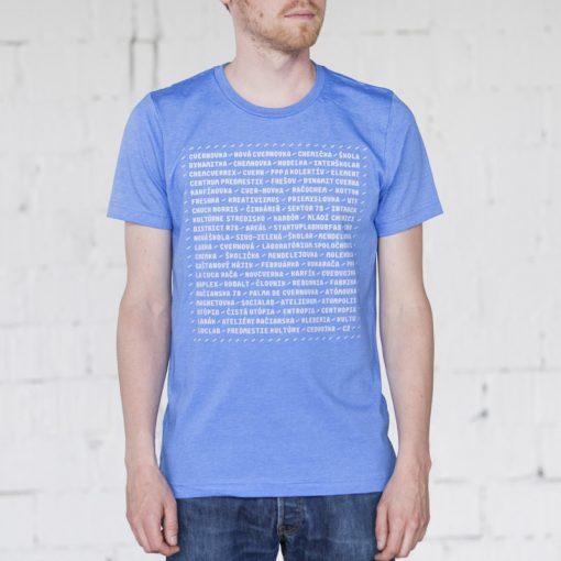 Modré pánske tričko názvy Cvernovka