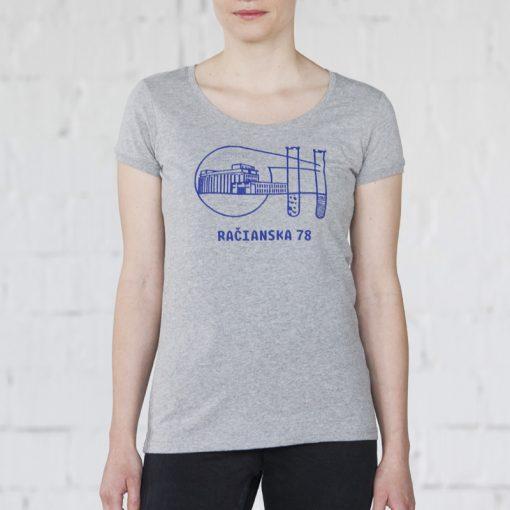 Sivé dámske tričko račianska