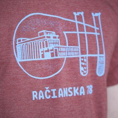 Tehlové pánske tričko Račianska