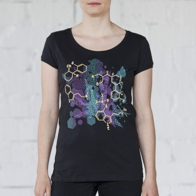 Čierne dámske tričko zelená chémia