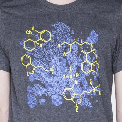 Sivé pánske tričko modrá chémia