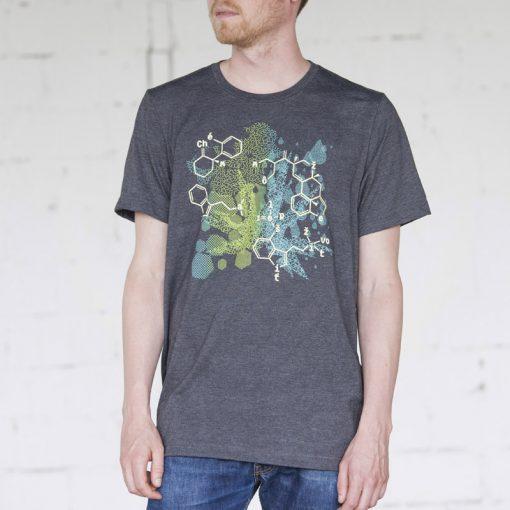 Sivé pánske tričko zelená chémia