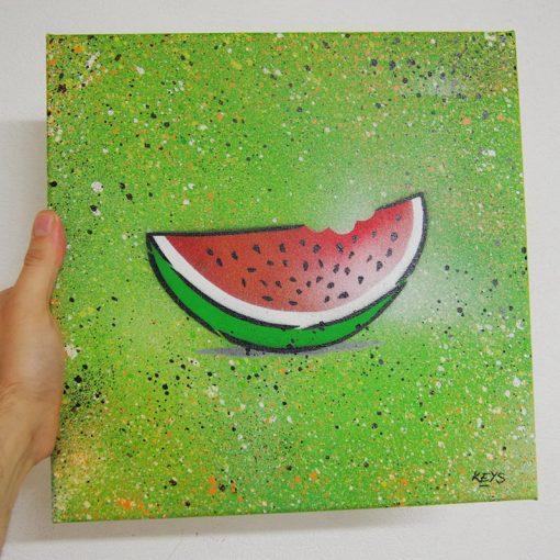 Watermelon - obraz na plátne 30 x 30 cm
