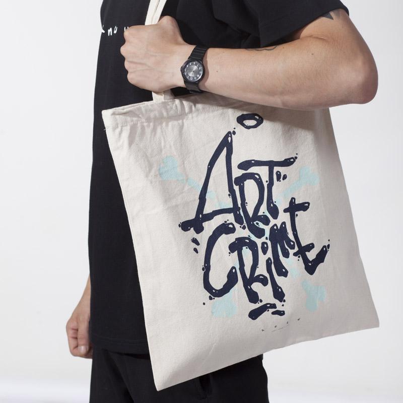 40e44fd877 Plátená taška Artcrime blue - kúpiť online