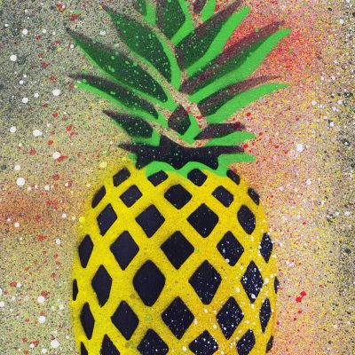 Ananas - obraz v plexi rámiku 21 x 30 cm