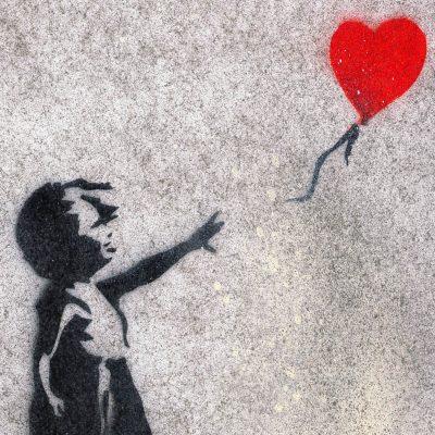Banksy´s Girl with Baloon - obraz v plexi rámiku 21 x 30 cm