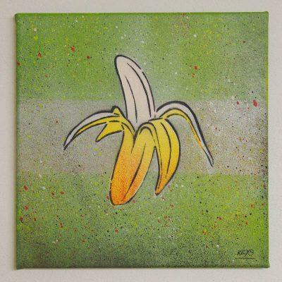 Banana - obraz na plátne 30 x 30 cm