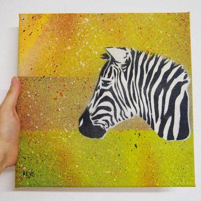 Zebra - obraz na plátne 30 x 30 cm
