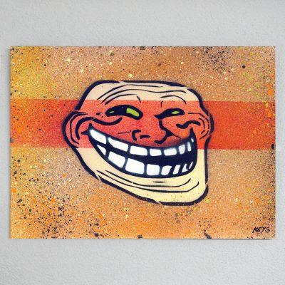 Trollface obraz v plexi rámiku 21 x 30 cm