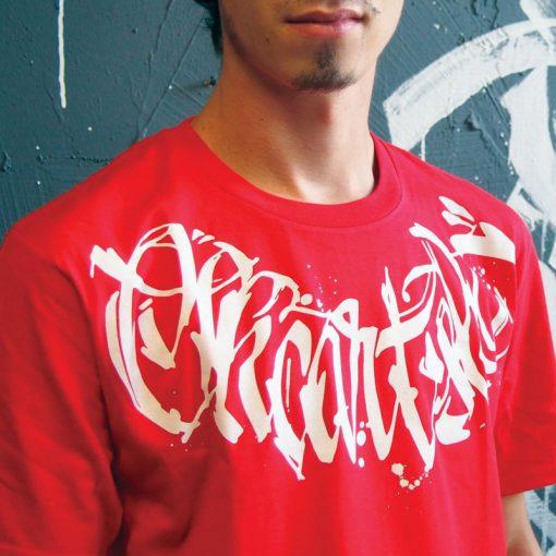 Červené tričko SKC Art calligraphy