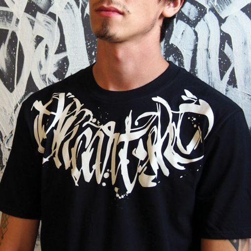 Čierne tričko SKC Art calligraphy
