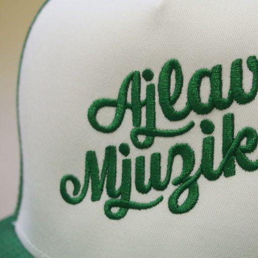 Zelený trucker snapback ajlavmjuzik written