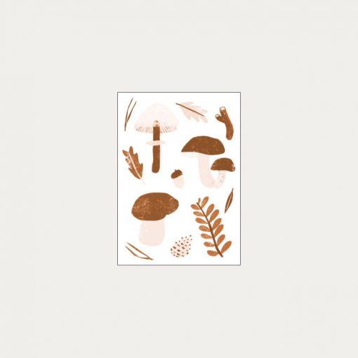 Hríbiky - plagátik / obrázok A4