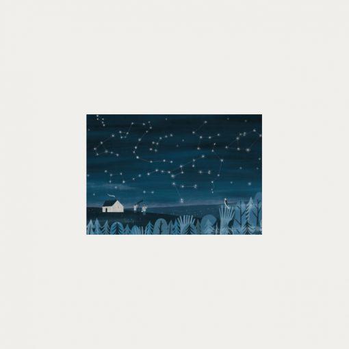 Nočná obloha - plagátik / obrázok A4