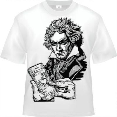 Bethoven biele tričko