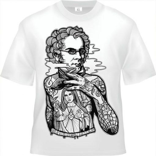 Schubert biele tričko