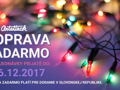 Doprava ZADARMO na všetky objednávky prijaté cez Vianočné sviatky 2017