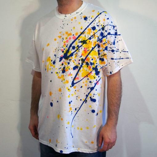 Biele Streetart tričko #2 (veľkosť XL)