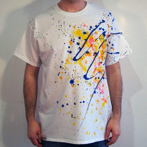 Biele Streetart tričko #6 (veľkosť L)