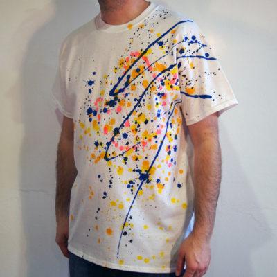 Biele Streetart tričko #7 (veľkosť L)