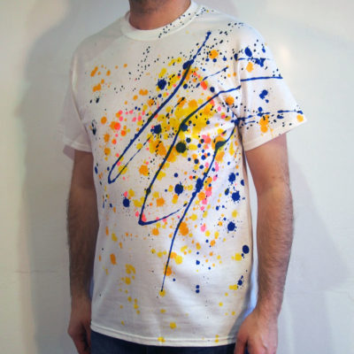 Biele Streetart tričko #9 (veľkosť M)