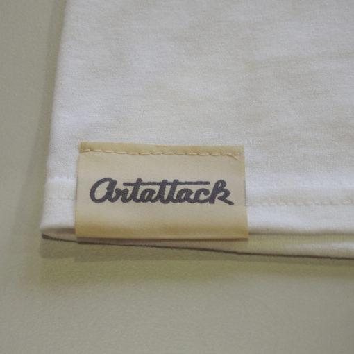 Biele Streetart tričko štítok