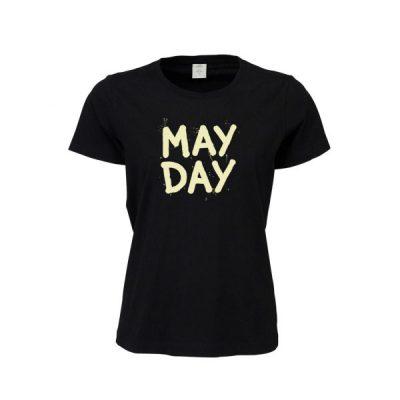 Čierne dámske tričko May Day Cvernovka