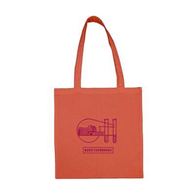 Oranžová plátená taška Logo Račianska Cvernovka