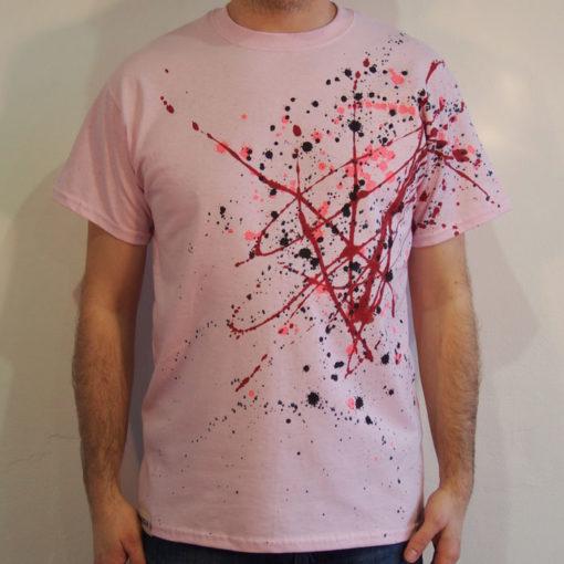 Ružové Streetart tričko #2 (veľkosť M)