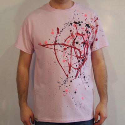Ružové Streetart tričko #4 (veľkosť M)