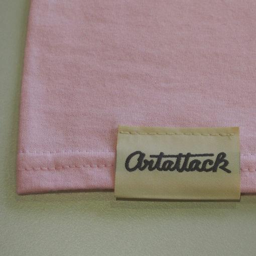 Ružové Streetart tričko štítok
