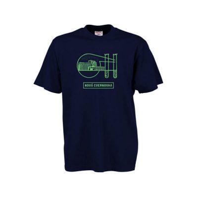 Tmavo modré tričko Logo Račianska Cvernovka