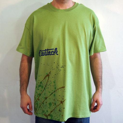 Zelené Streetart tričko #1 (veľkosť XL)