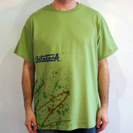 Zelené Streetart tričko #3 (veľkosť L)