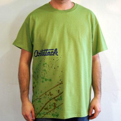 Zelené Streetart tričko #4 (veľkosť L)