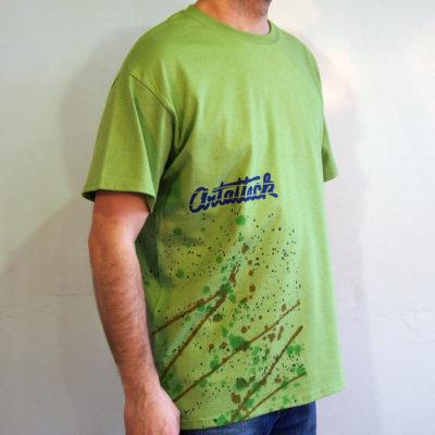 Zelené Streetart tričko #6 (veľkosť L)