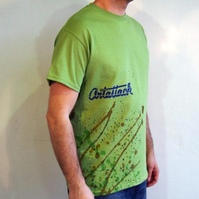 Zelené Streetart tričko #10 (veľkosť M)