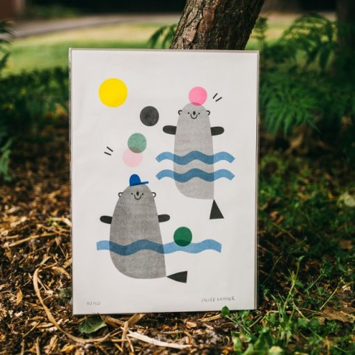 Veselé tulene – grafika / obrázok