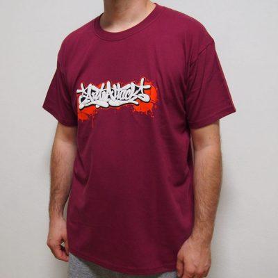 Bordové tričko ArtAttack - Tag by Dias