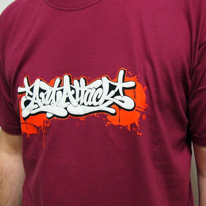 625b611e27b2 Bordové tričko ArtAttack Dias - ArtAttack Shop