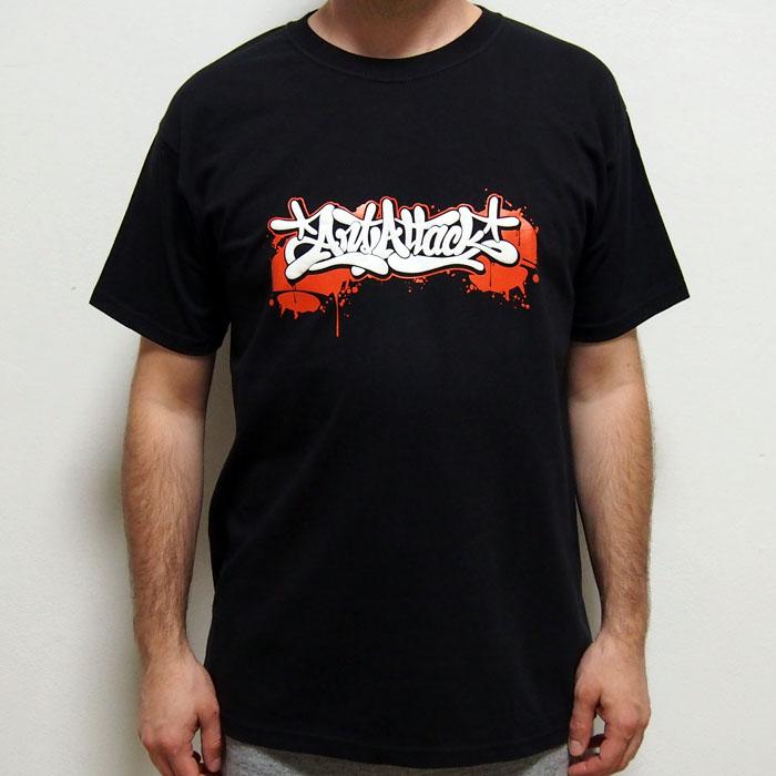 39224e1e6928 Čierne tričko ArtAttack Dias - ArtAttack Shop