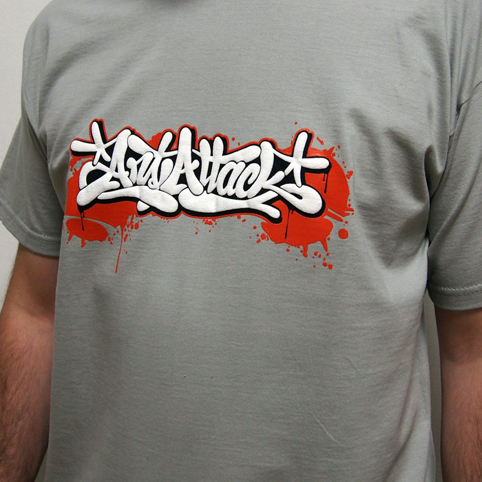 bff918270bed Sivé tričko ArtAttack Dias - ArtAttack Shop