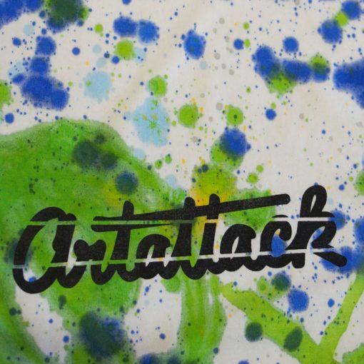 Biele Streetart tričko s farebným dizajnom #6 (veľkosť M)