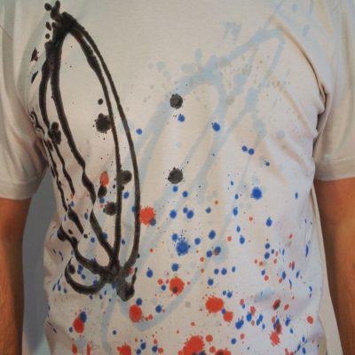 Sivé Streetart tričko #3 (veľkosť M)