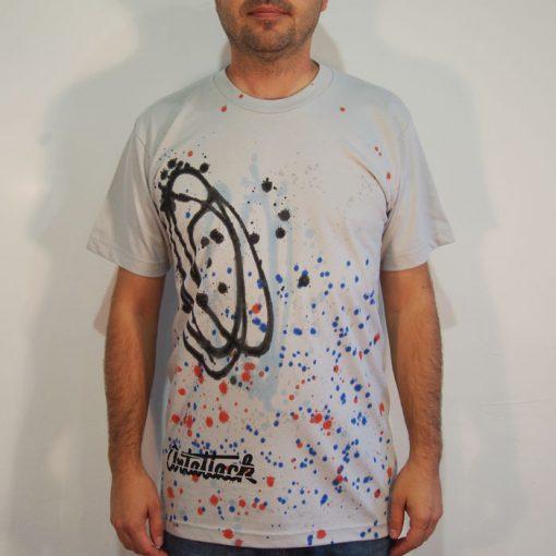 Sivé Streetart tričko #4 (veľkosť M)